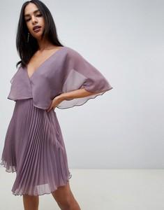 Sukienka Asos Design z dekoltem w kształcie litery v z długim rękawem