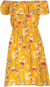 Sukienka Multu z krótkim rękawem mini z dekoltem w kształcie litery v