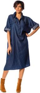 Sukienka La Fabrique Du Jean midi koszulowa w stylu casual