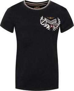 T-shirt Aeronautica Militare z okrągłym dekoltem