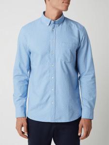 Niebieska koszula Montego w stylu casual