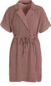 Sukienka Vero Moda z krótkim rękawem z kołnierzykiem mini
