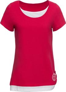 Czerwony t-shirt bonprix John Baner JEANSWEAR z krótkim rękawem