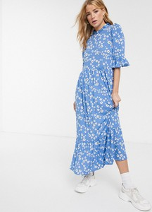 Sukienka Asos Design maxi z długim rękawem