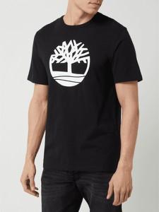 Czarny t-shirt Timberland z bawełny
