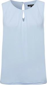 Niebieska bluzka More & More z okrągłym dekoltem w stylu casual