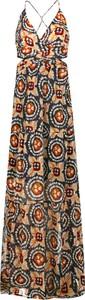 Sukienka Pepe Jeans z dekoltem w kształcie litery v maxi
