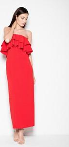 Czerwona sukienka sukienki.pl maxi