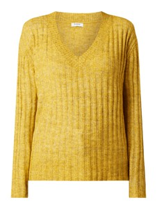 Sweter Pieces z wełny w stylu casual