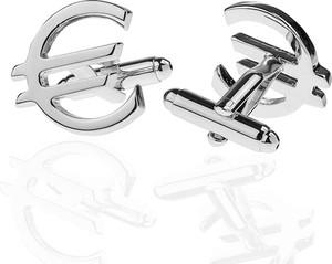 Em Men`s Accessories Spinki do mankietów tematyczne srebrne euro EM 64