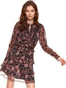Sukienka Top Secret z szyfonu z długim rękawem w stylu casual