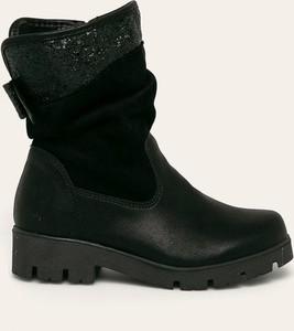 Czarne buty dziecięce zimowe Kornecki