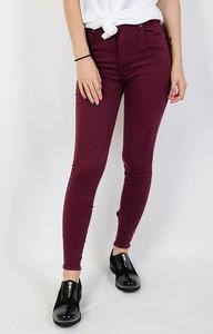 Czerwone jeansy Olika z jeansu w młodzieżowym stylu