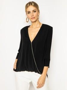 Czarna bluzka Elisabetta Franchi z długim rękawem