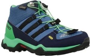 Buty trekkingowe dziecięce Adidas sznurowane z goretexu w paseczki