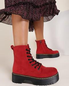 Czerwone trapery damskie Renee