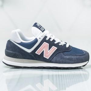 Granatowe buty sportowe New Balance 574 sznurowane