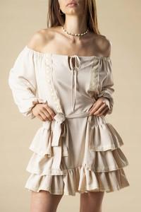 Sukienka Inna z długim rękawem hiszpanka mini