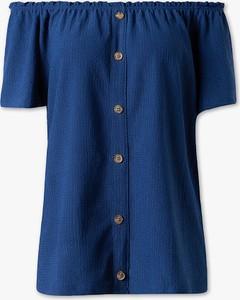 Niebieski t-shirt YESSICA w stylu casual