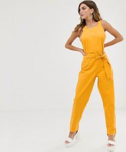 Żółty kombinezon NA-KD z długimi nogawkami