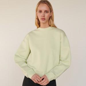 Zielona bluza Reserved w młodzieżowym stylu krótka z bawełny