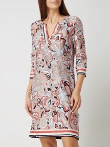 Sukienka Montego z długim rękawem mini z dekoltem w kształcie litery v