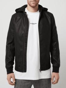 Czarna kurtka Tom Tailor Denim ze skóry ekologicznej krótka
