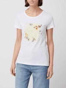 T-shirt S.Oliver w młodzieżowym stylu z bawełny z okrągłym dekoltem