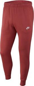 Czerwone spodnie sportowe Nike z dresówki