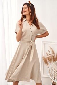 Sukienka Fasardi z lnu