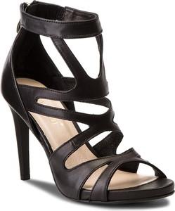 Czarne sandały carinii z nubuku
