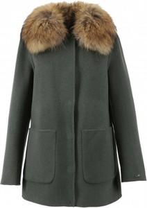 Zielony płaszcz Oakwood z wełny