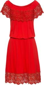 Czerwona sukienka bonprix RAINBOW