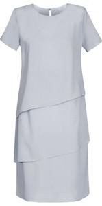 Niebieska sukienka Fokus z krótkim rękawem w stylu boho