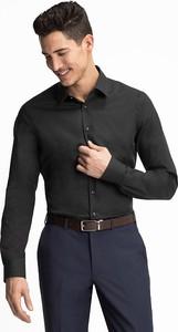 Czarna koszula ANGELO LITRICO z klasycznym kołnierzykiem