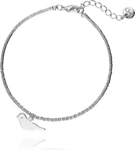 Simplicity Bransoletka srebrna z ptakiem BSC0658