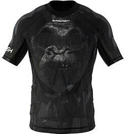 Czarny t-shirt Smmash z nadrukiem