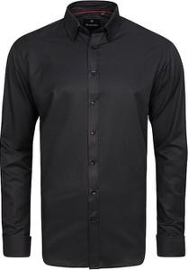 Czarna koszula Di Selentino z długim rękawem
