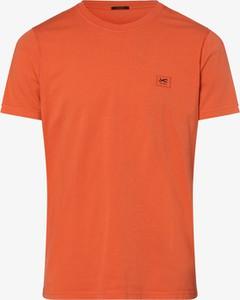 Pomarańczowy t-shirt Denham z dżerseju