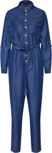 Niebieski kombinezon New Look z tkaniny z długimi nogawkami