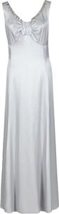 Sukienka Fokus na ramiączkach z satyny maxi