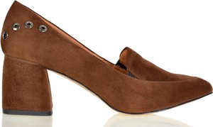 Czółenka lizard-shoes.com na obcasie ze skóry