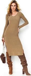 Brązowa sukienka Makadamia prosta