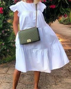 Sukienka Kendallme midi w stylu boho z krótkim rękawem