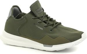 Zielone buty sportowe Le Coq Sportif sznurowane