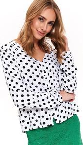 Bluzka Top Secret z dekoltem w kształcie litery v z długim rękawem