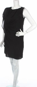 Czarna sukienka Solar mini z okrągłym dekoltem bez rękawów