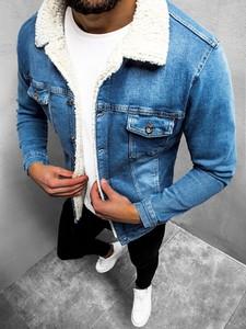 Niebieska kurtka ozonee.pl z jeansu