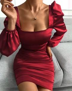 Sukienka Kendallme z długim rękawem dopasowana w stylu casual