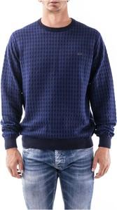 Sweter Sun 68 z okrągłym dekoltem z wełny w stylu casual